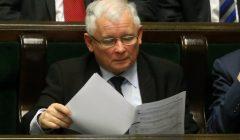 Jaroslaw Kaczynski na posiedzeniu Sejmu
