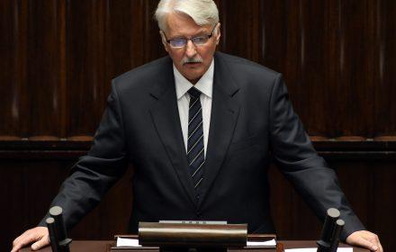 Sejm, expose ministra spraw zagranicznych