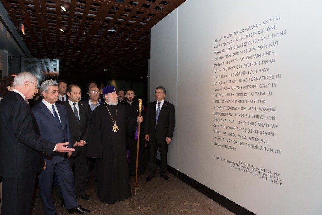 Prezydent Armenni, Serzh Sargsayan w Muzeum Holocaustu w Waszyngtonie