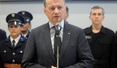 Konferencja ministra MSWiA Mariusza Blaszczaka