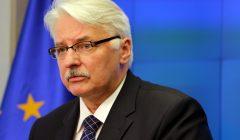 Konferencja Witolda Waszczykowskiego po spotkanie ministrow spraw zagranicznych .