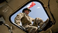 Sprzet amerykanskiej armii na cwiczeniach wojskowych '' Anakonda '' .