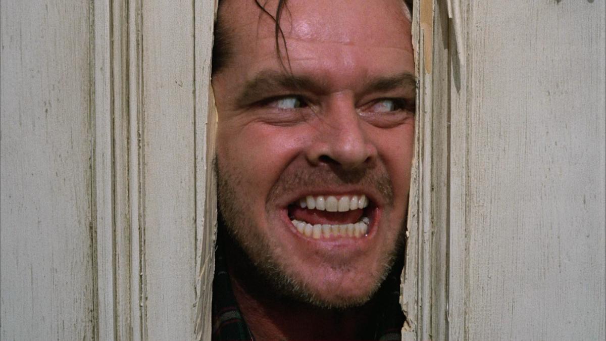 "Jack Torrance, szalony bohater filmu ""Lśnienie""."