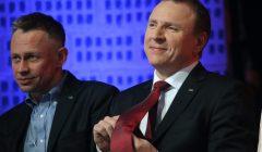 Jacek Kurski , konferencja podsumowujaca pierwszy kwartal 2016 r. w TVP
