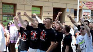 Przemyśl. Procesja religijna upamiętniająca strzelców siczowych Ukraińskiej Armii Galicyjskiej w 2016 r. fot. Youtube