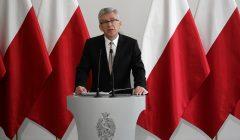 Konferencja prasowa Marszalka Senatu Stanislawa Karczewskiego