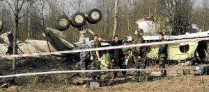 11.04.2010 Smoleńsk, miejsce katastrofy prezydenckiego samolotu TU-154 Fot. Filip Klimaszewski/ Agencja Gazeta