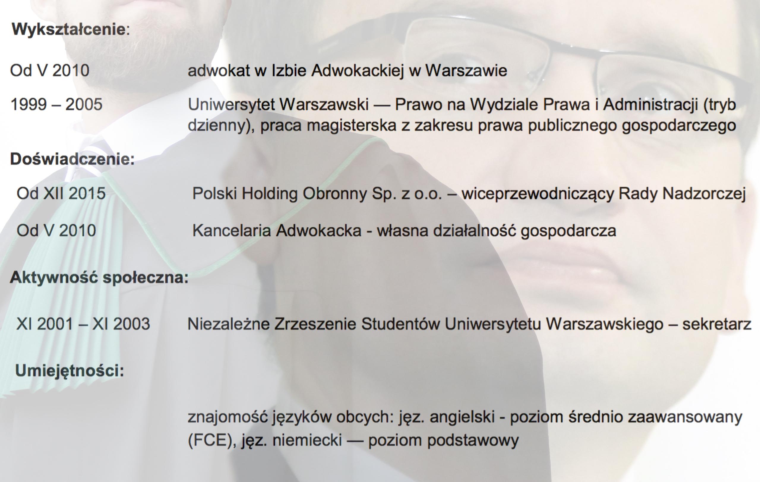 CV Bartłomieja Litwińczuka