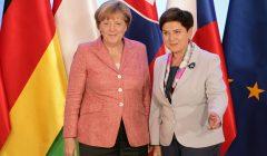 Spotkanie szefow rzadow panstw Grupy Wyszehradzkiej z kanclerz Niemiec