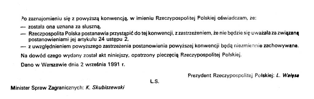 Dziennik Ustaw z 1991 roku