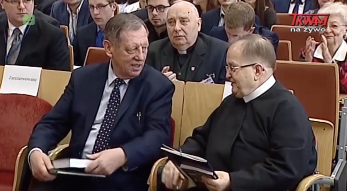 Jan Szyszko i o. Tadeusz Rydzyk fot. Telewizja Trwam