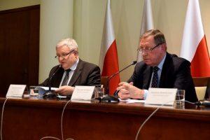 Minister środowiska Jan Szyszko i prezes NFOŚiGW Kazimierz Kujda