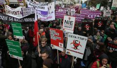 Protest przeciwko  TTIP i CETA