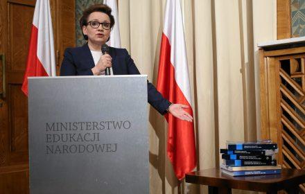 Na zdjęciu: minister edukacji Anna Zalewska