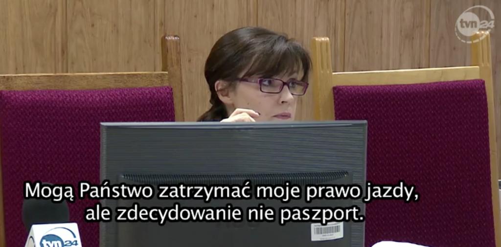 Sędzia Koska-Janusz podczas rozprawy Izabeli Ch. / fot. TVN24