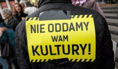 Kongresu Kultury 2016 w Warszawie - Protest
