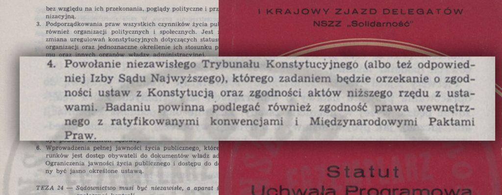 """""""Statut. Uchwała Programowa z Aneksem. Dokumenty ze Zjazdu"""" / BIPS 1981 r."""
