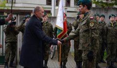 Minister obrony narodowej Antoni Macierewicz podczas uroczystosci podpisania koncepcji tworzenia obrony narodowej w Warszawie
