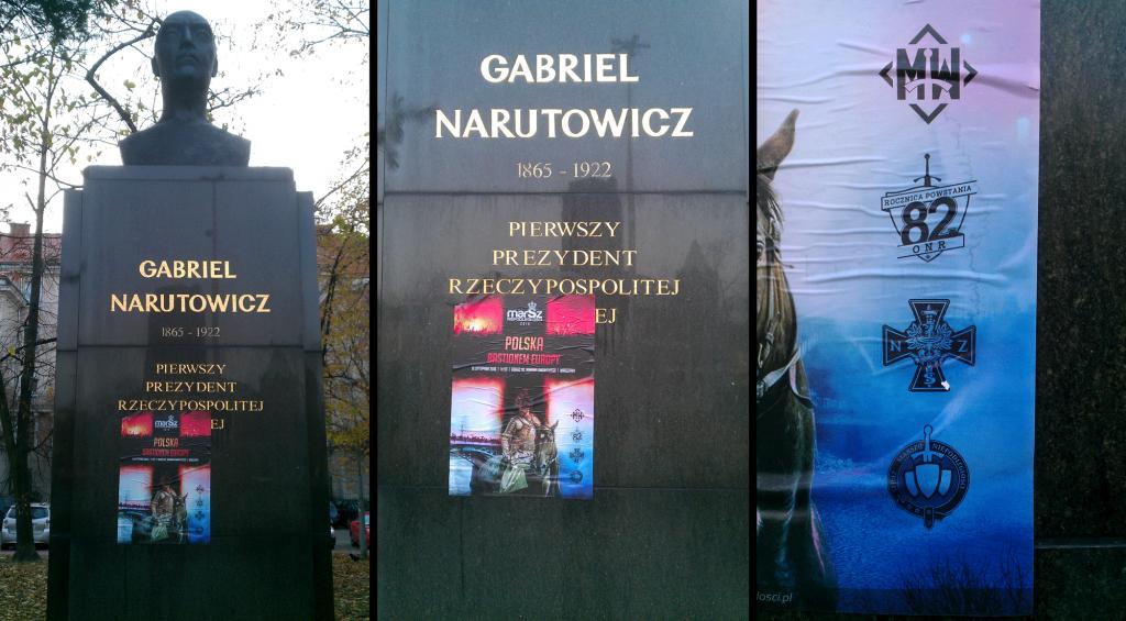 Pomnik G. Narutowicza / fot. czytelnika OKO.press