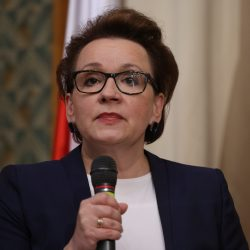 Konferencja prasowa minister edukacji