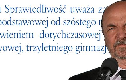 Wpadka profesora Legutki. Chciał skrytykować ZNP, obsztorcował własną partię