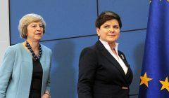Premier Wielkiej Brytani Theresa May , Premier RP Beata Szydlo podczas konferencji prasowej  .