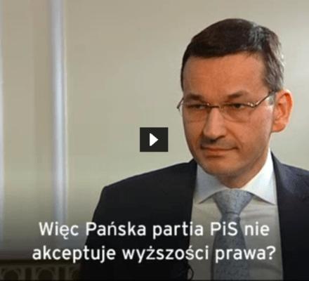 Morawiecki: W III Rzeszy prawo było przestrzegane. Wicepremier się myli