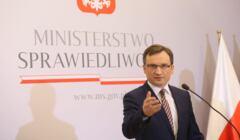 Zbigniew Ziobro na konferencji prasowej