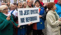 Protest nauczycieli w Bydgoszczy