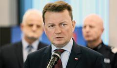 Minister Mariusz Blaszczak w nowej komendzie powiatowej