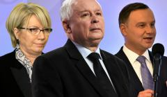 Julia Przyłębska, Jarosław Kaczyński i Andrzej Duda