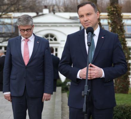 Wpadka Andrzeja Dudy. Prezydent przyznał, że nie stoi na straży Konstytucji RP