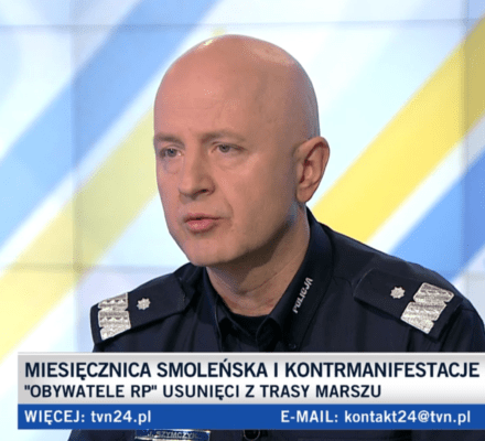 Policja staje się policją partyjną. Komendant Główny Policji mówi o demonstrantach: To przeciwnicy