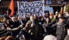 Manifestacja przeciw wycince Puszczy