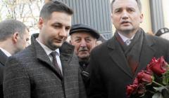 Symboliczny koniec aresztu na Rakowieckiej, Zbigniewe Ziobro i Patryk Jaki, 1 marca 2017