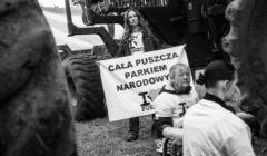 IV blokada wycinki Puszczy Białowieskiej 13 czerwca 2017