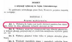 dekret Naczelnika Państwa, Józefa Piłsudskiego, który dawał obywatelkom Polski prawa wyborcze