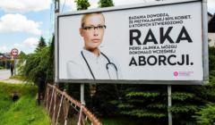 Bilbord o raku i aborcji