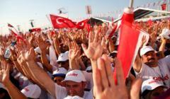Wiec w Stambule 9 lipca 2017 przeciwników Erdogana