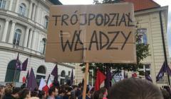 Protest-w-obronie-Sadu-Najwyzszego-na-Krakowskim-Przedmiesciu, lipec 2017