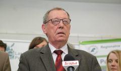 Minister srodowiska Jan Szyszko w Hajnowce