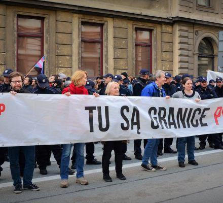 Blokujący marsz ONR w kwietniu 2017 są niewinni. Pierwszy taki prawomocny wyrok