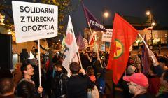 Protest przeciw wizycie prezydenta Erdogana