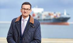 Wizyta wicepremiera Mateusza Morawieckiego w Terminalu Kontenerowym DCT w Gdansku