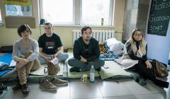 Protest glodowy lekarzy i pracownikow medycznych w Lesznie