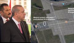 R. Erdogan z ochroniarzem