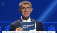 Andrej Babisz, zdjęcie z ostatniej debaty wyborczej, 20 października 2017
