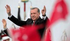 Prezydent Turcji Recep Tayyip Erdogan podczas wiec