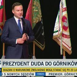 """Prezydent Duda: """"Górnictwo trzeba rozwijać i będzie nam potrzebne przez setki lat"""". Nawet rząd PiS mówi najwyżej o 30 latach"""