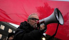 Protest przed Sejmem RP podczas glosowania nad KRS i SN